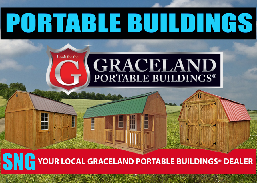 SNG Satellite has Graceland Portable Buildings. If you are looking for a building, shed, garage or cabin. please call or come to our San Angelo, Texas location today.